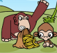 Khỉ con trộm chuối