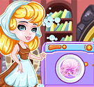 Cinderella giặt quần áo
