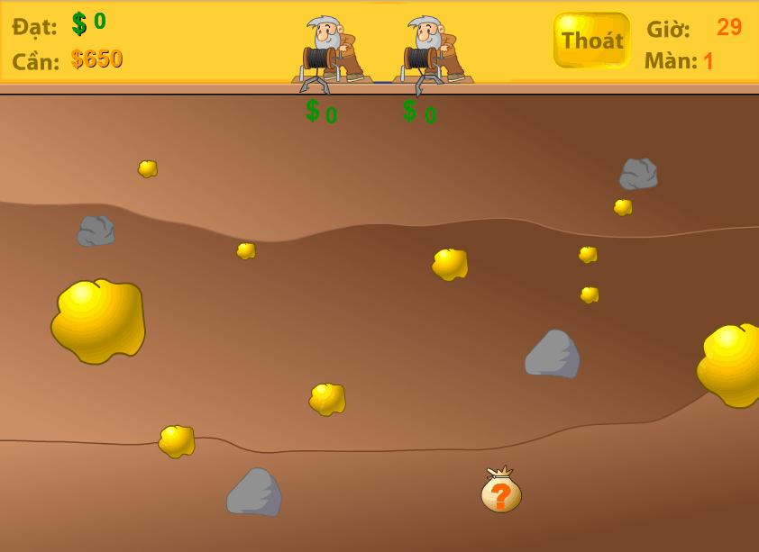 Trò chơi đào vàng đôi game