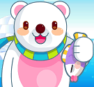 Gấu trắng bắt cá