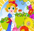 Vườn hoa tết