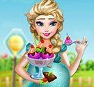 Elsa làm kem