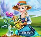 Elsa trồng hoa