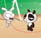 Panda nhảy dây