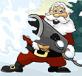 Santa ném bóng tuyết