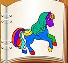 Tô màu ngựa con 5