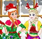 Elsa và Anna đón Noel