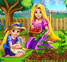 Rapunzel làm vườn