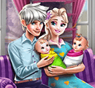 game-gia-dinh-elsa-ice-queen-twins-family-day