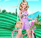 Barbie đi xe đạp