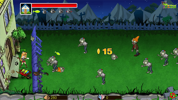 game cat vs zombie hinh anh 1