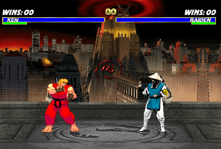 game mortal kombat vs street fighter hinh anh 1