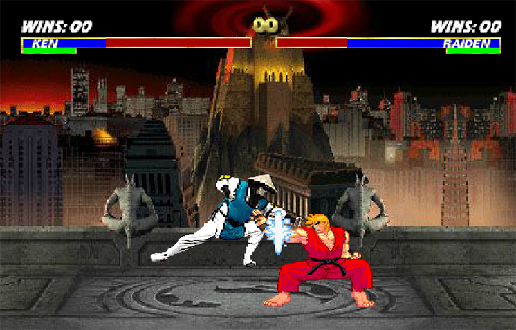 game mortal kombat vs street fighter mk vs sk hinh anh 2