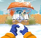 Naruto ném bóng tuyết