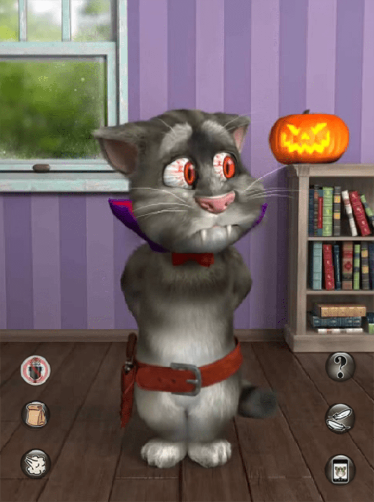 game talking tom cat halloween hinh anh 1