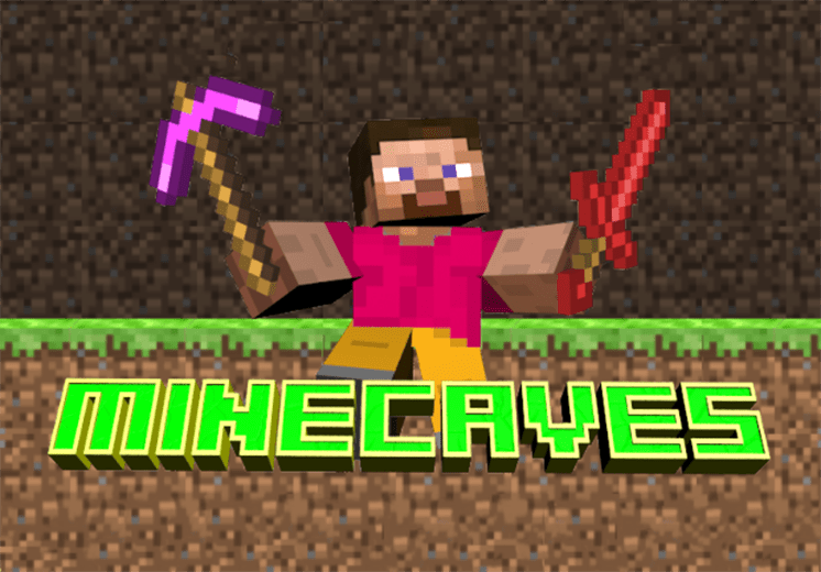 tro choi minecaves tim da quy
