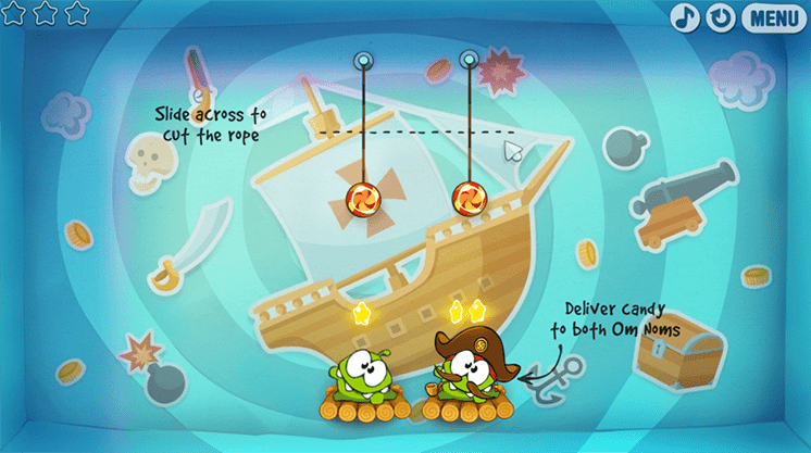 game cut the rope time travel hinh anh 1