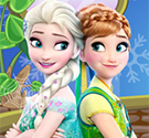 Elsa và Anna trang trí bánh ngọt