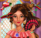 Làm tóc cho công chúa Latina