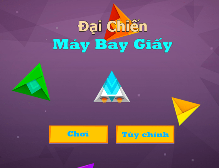 tro choi dai chien may bay giay