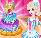 Công chúa Elsa làm bánh kem