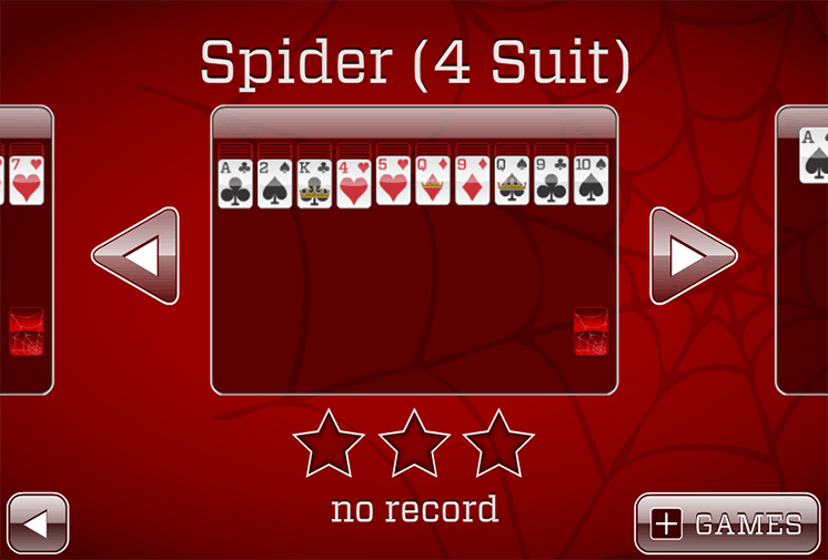 game xep bai nhen spider solitaire